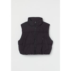 NWT H&M Black Cropped Puffer Vest